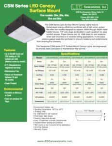 CSM Series LED Canopy Surface Mount