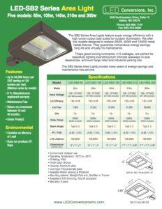 LED-SB2 Series Area Light