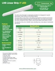 LNS Linear Strip 4′ LED