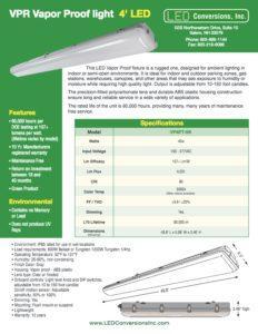 VPR Vapor Proof light 4′ LED