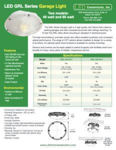 LED GRL Series Garage Light